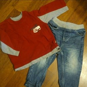 Infant Boys jeans and shirt